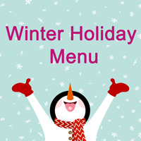 Winter Holiday Menu