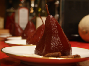 Pears Marching in Wine!